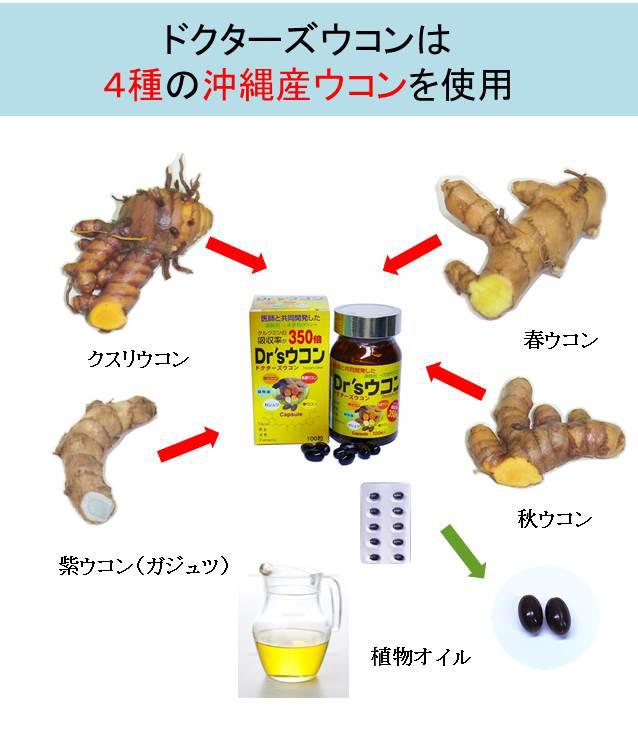 4種の沖縄産ウコンを使用@23